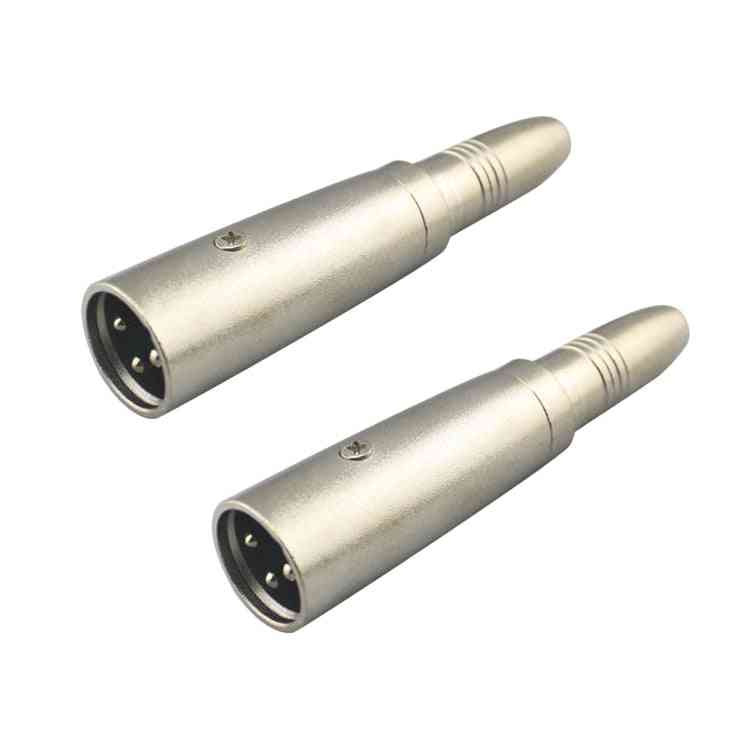 2 Pcs Adapter Connector, 6.5mm Female To Male For Jack Audio Mic Accessories