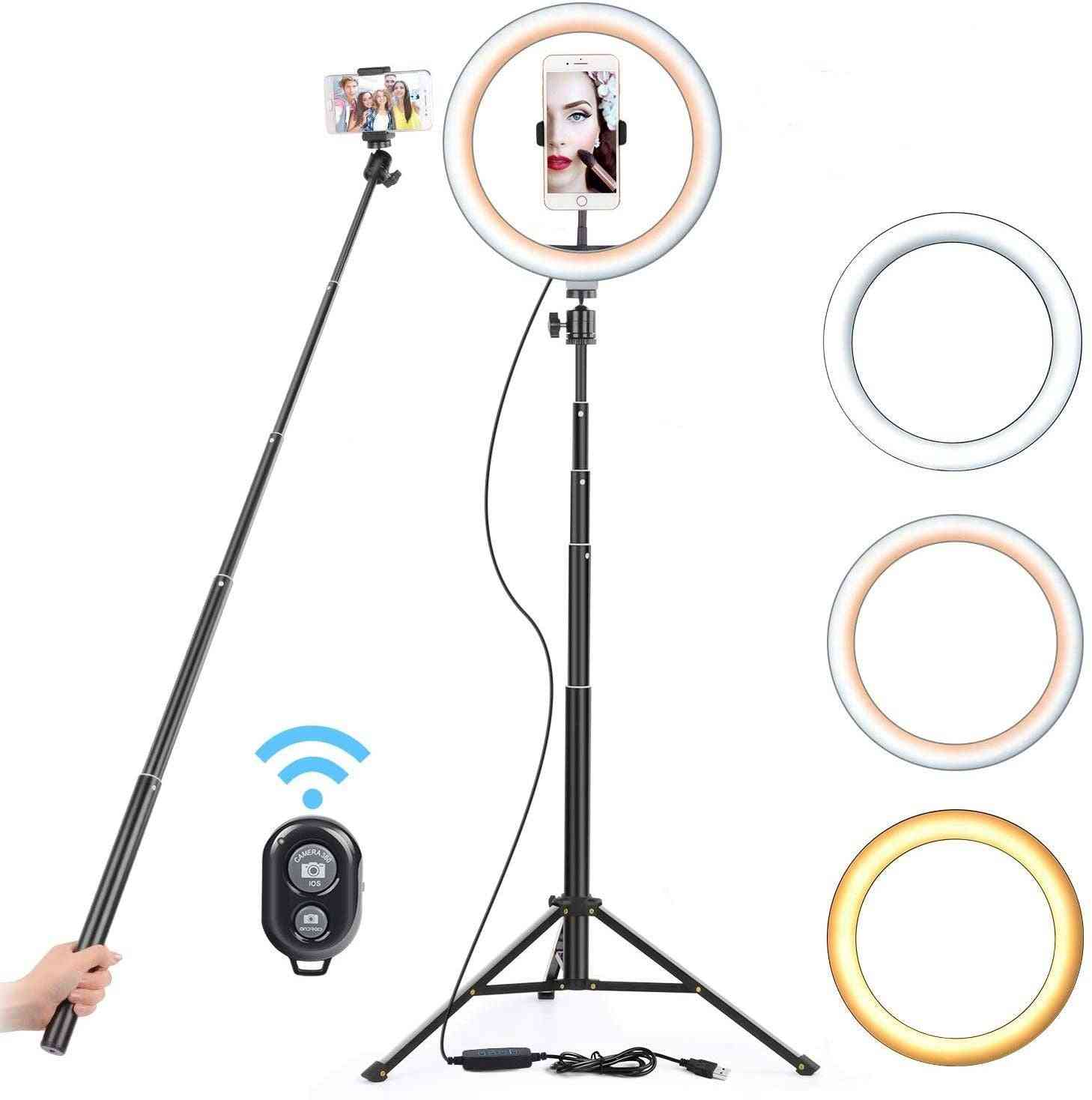 Usb Led Light Ring Photography Flash Lamp With 130cm Tripod Stand