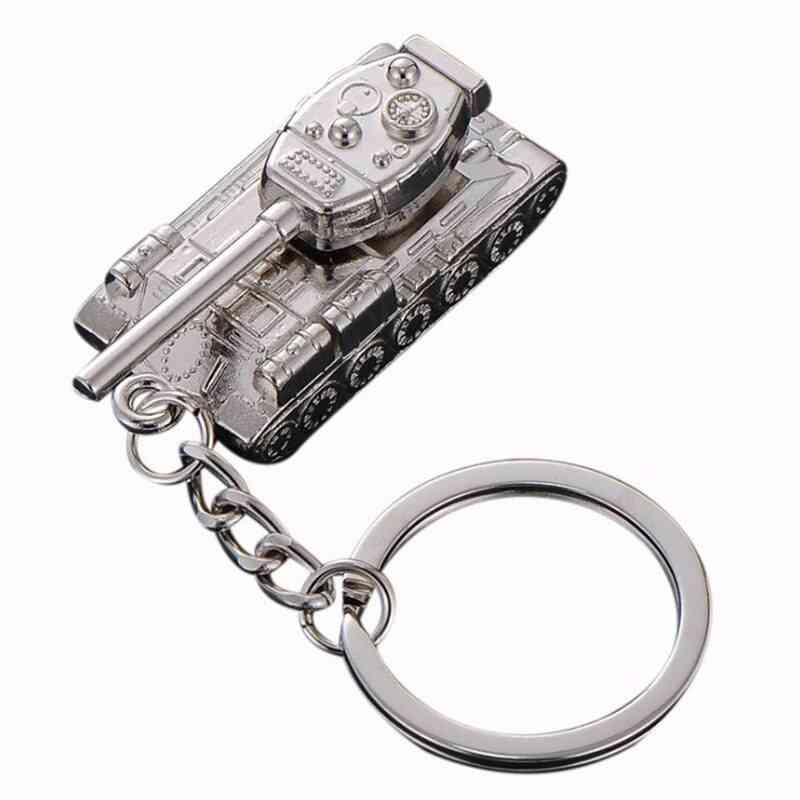 Creative Men's Popular Game World Of Tanks Tank Pendant Key Ring Chain Man Souvenirs