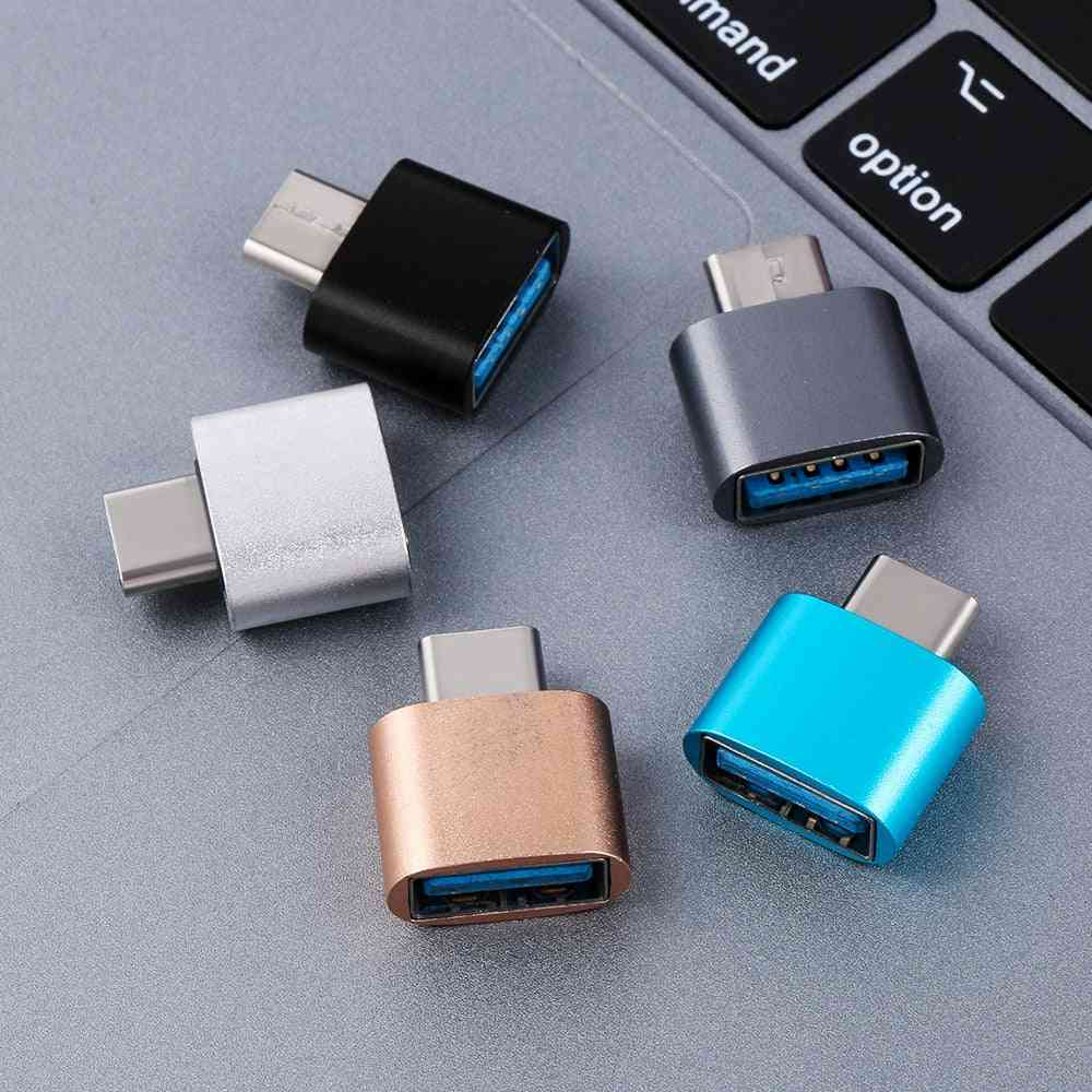 Metal Usb-c 3.1 Type C To Usb 3.0 Otg Converter Adapter For Android Smartphones Type C Otg Adapter