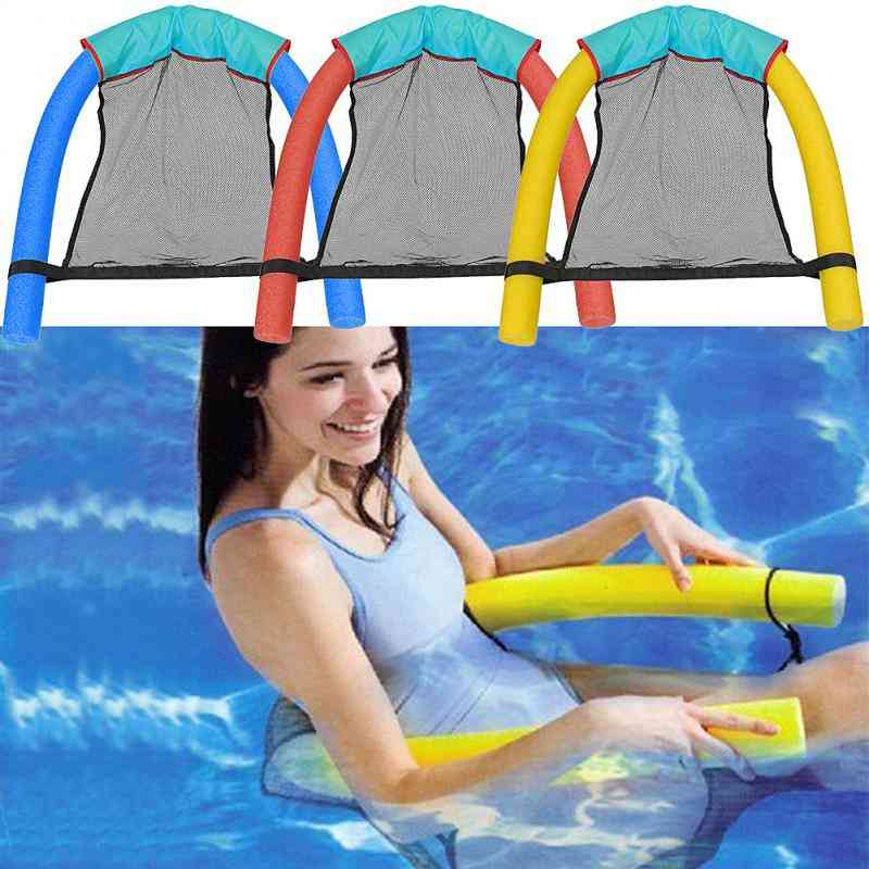 Lightweight,  Ring Noodle And Net Floating Chair For Swimming Pool