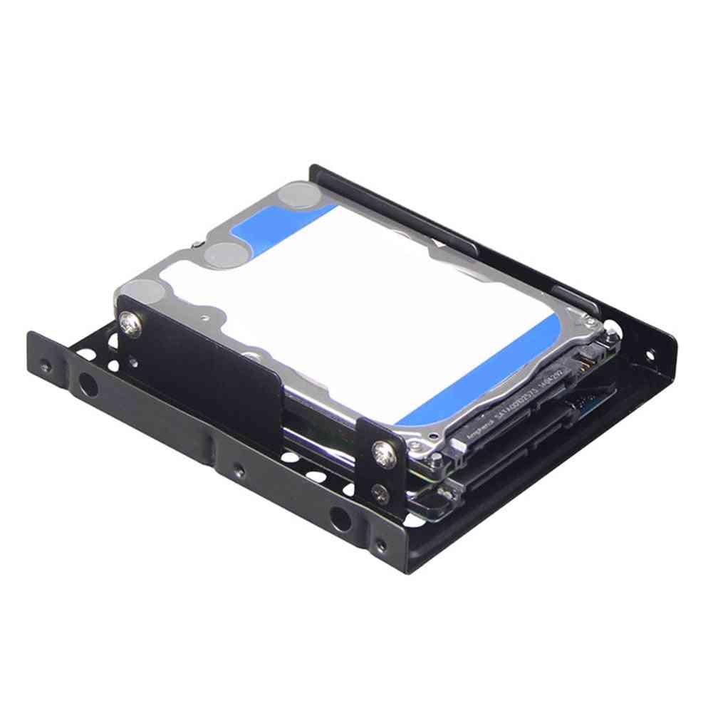 2.5 To 3.5 Internal Mounting Computer Ssd Hard Drive, Dual Desktop Converter Adapter Bracket