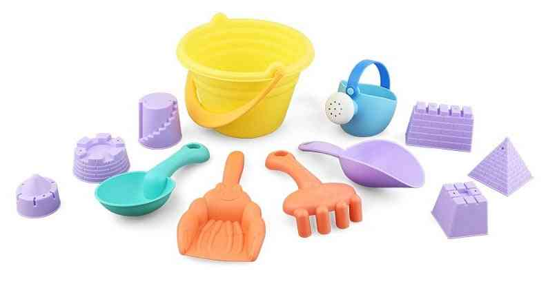Beach Sand Set- Animals Castle Sand Clay Mold Digging Shovel Bath Water Playing