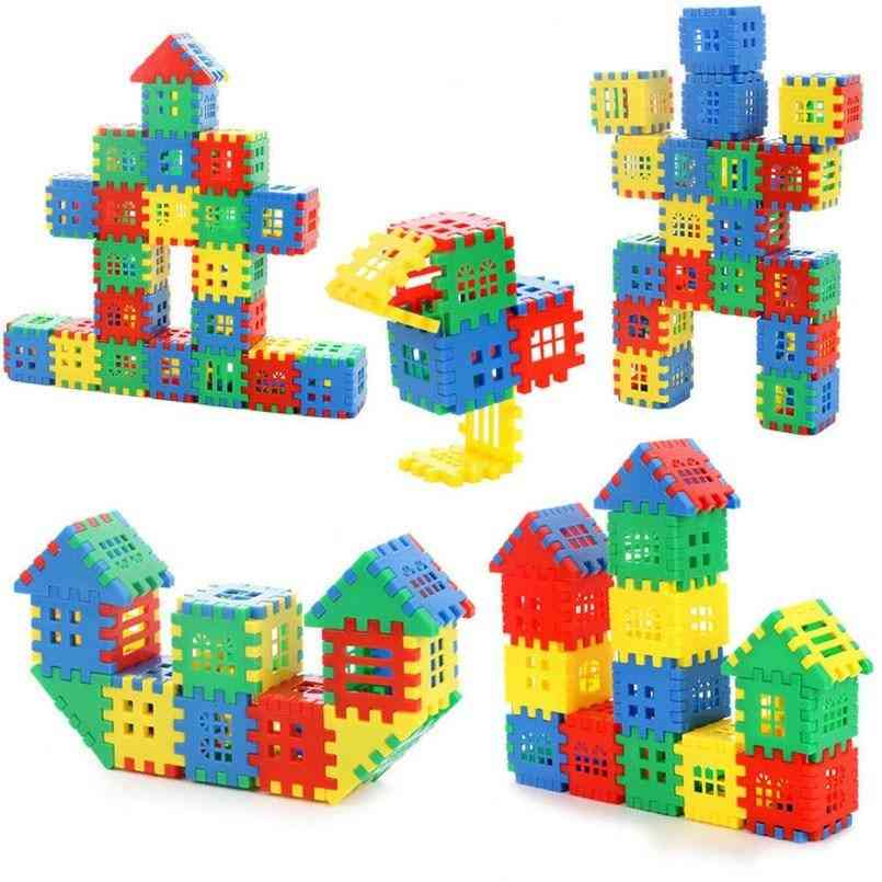 Plastic Building House Blocks Bricks Toy For Baby