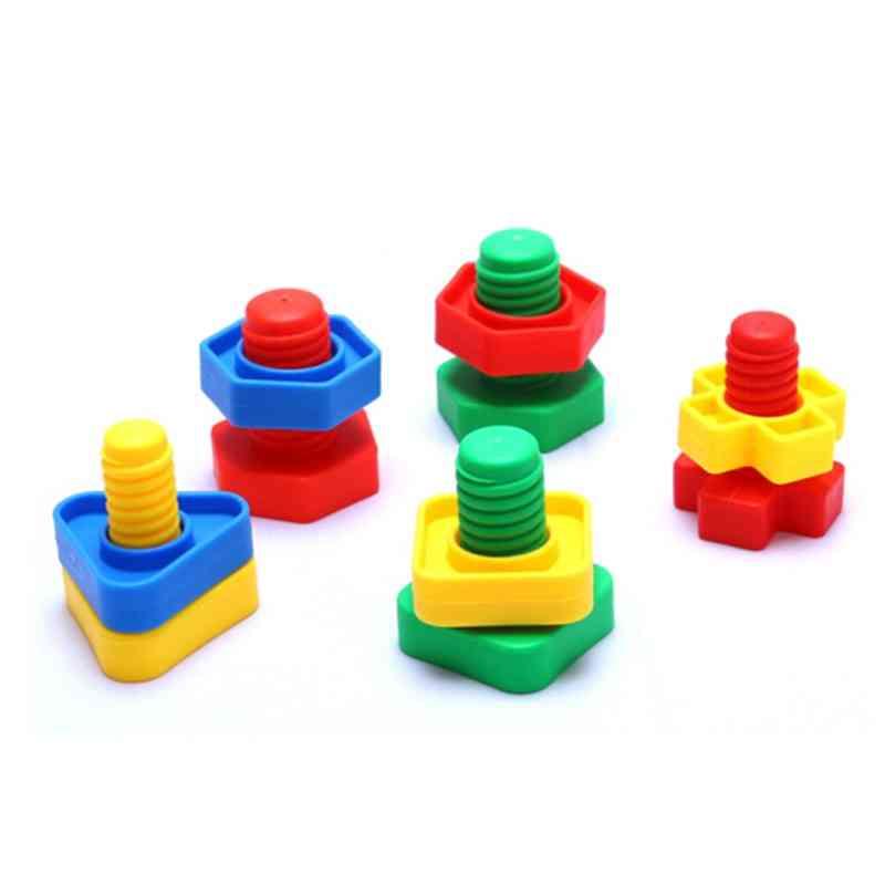 Montessori 3d Puzzle Game Screw Building Blocks For Baby