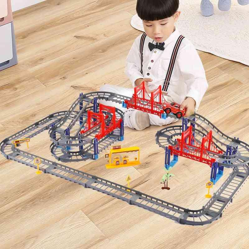 Magical Racing Educational Diy Bend Flexible Race Track - Building Block Play Set