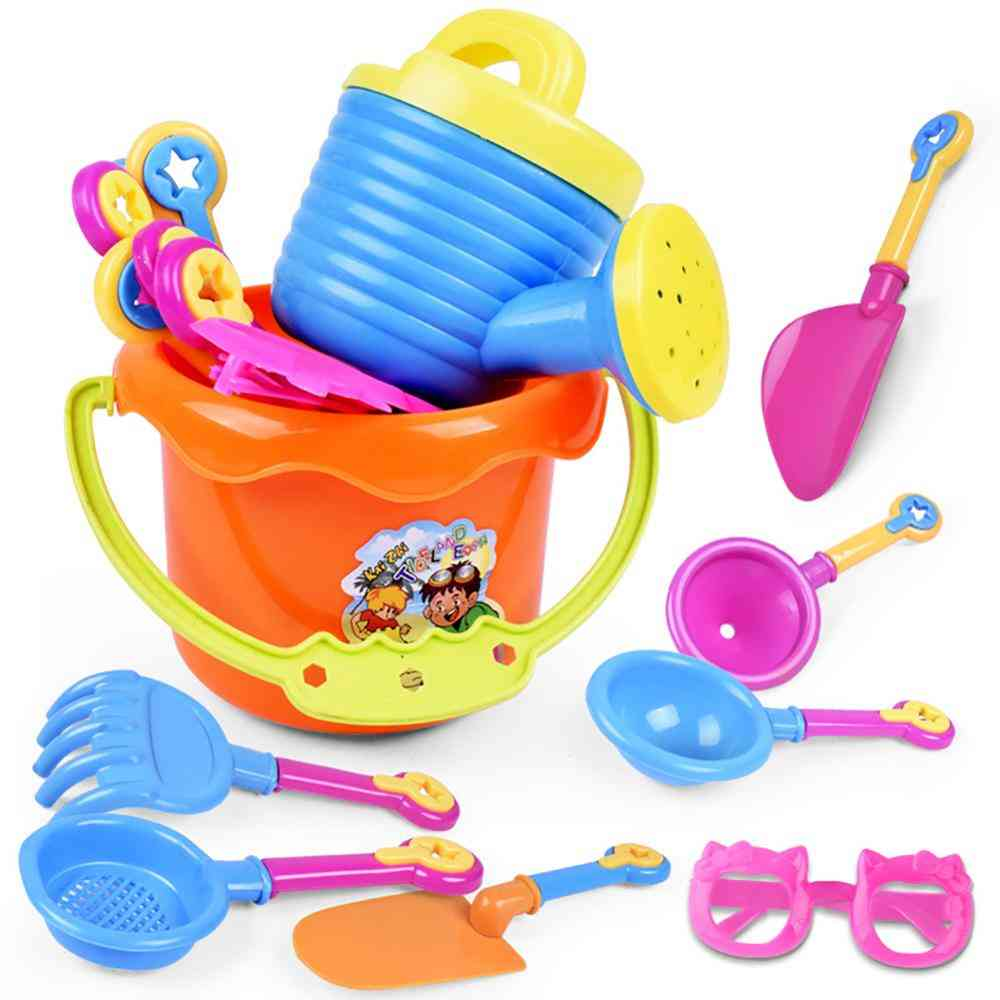 Children Outdoor Sea Sand Beach Bucket Shovel Rake Water Set Toy