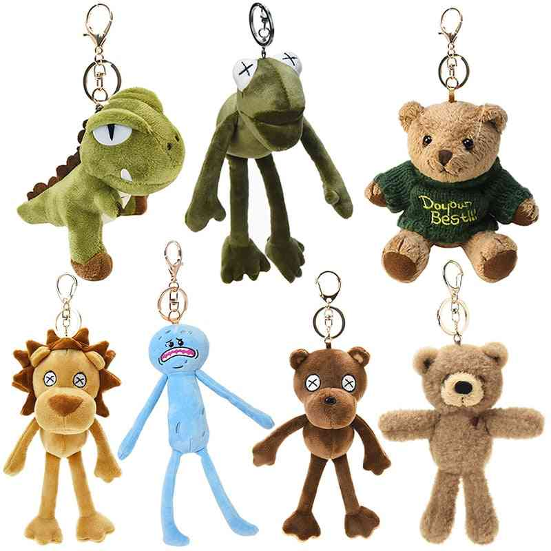 Keychain Backpack - Dinosaur And Sleeping Bear Cartoon Animal Plush Toy