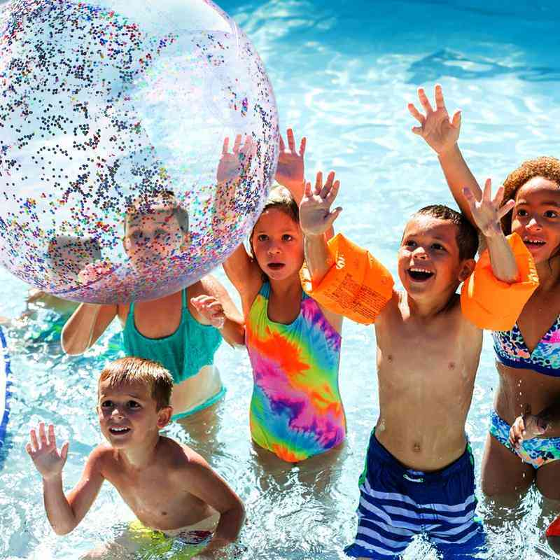 40/60cm Inflatable, Glitter Confetti Beach Ball For Kids
