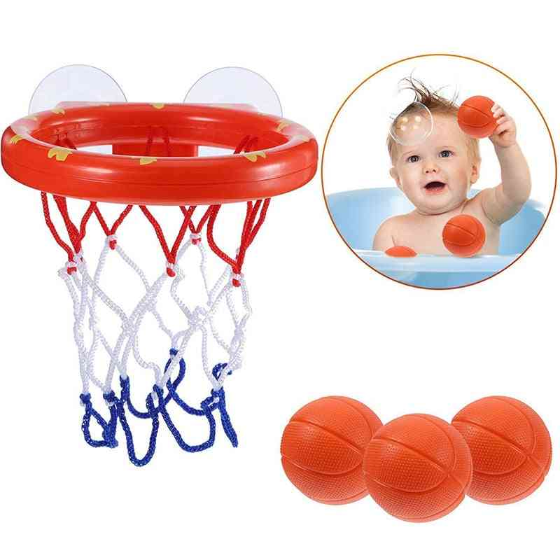 Basketball Hoop Game Shooting Baby Bath Toy- Water Paddle Sports Joke For