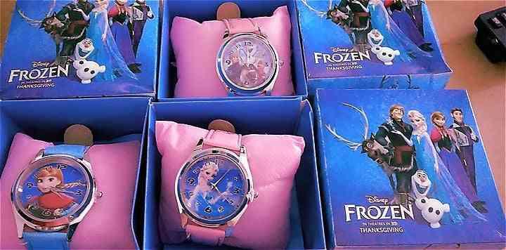 Child Wrist Watch Cartoon Princess Elsa Kids Watch Party