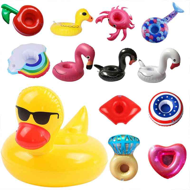 Inflatable Float Cup Drink Holder -swimming Ring