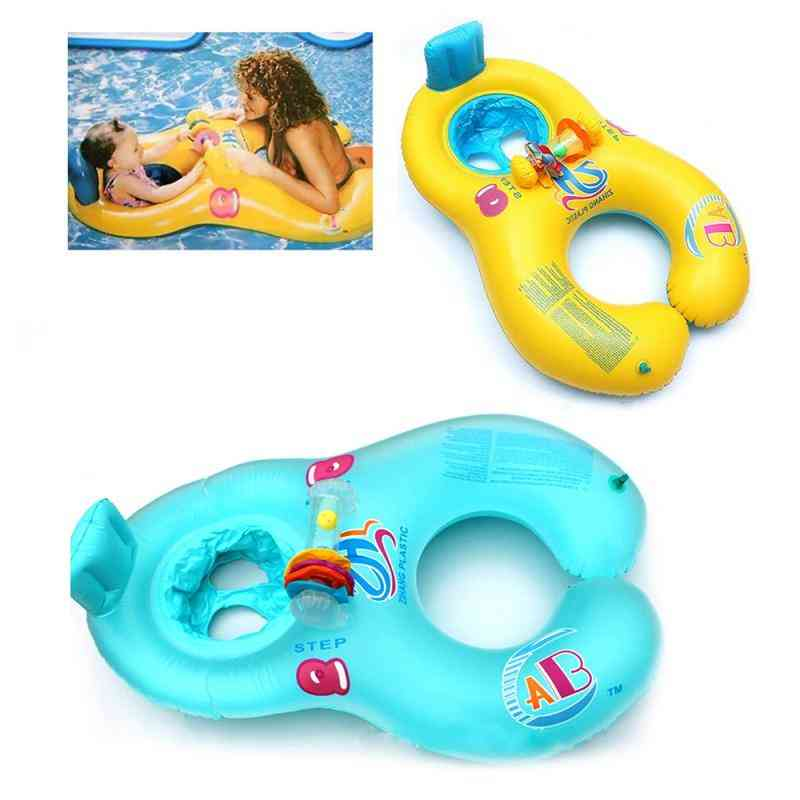 Inflatable Child Swimming Shade Circle Double Newborn Lifebuoy Seat Pool Float Trainer Accessories