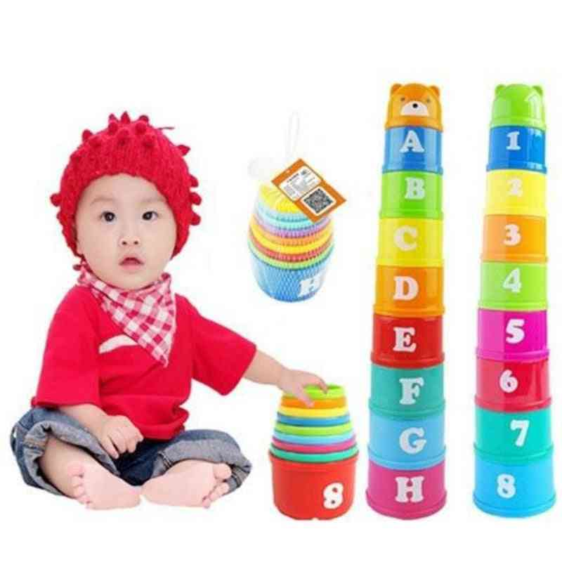 Educational Letters Piles Folding Cups, Lovely Bear Cup Stacking