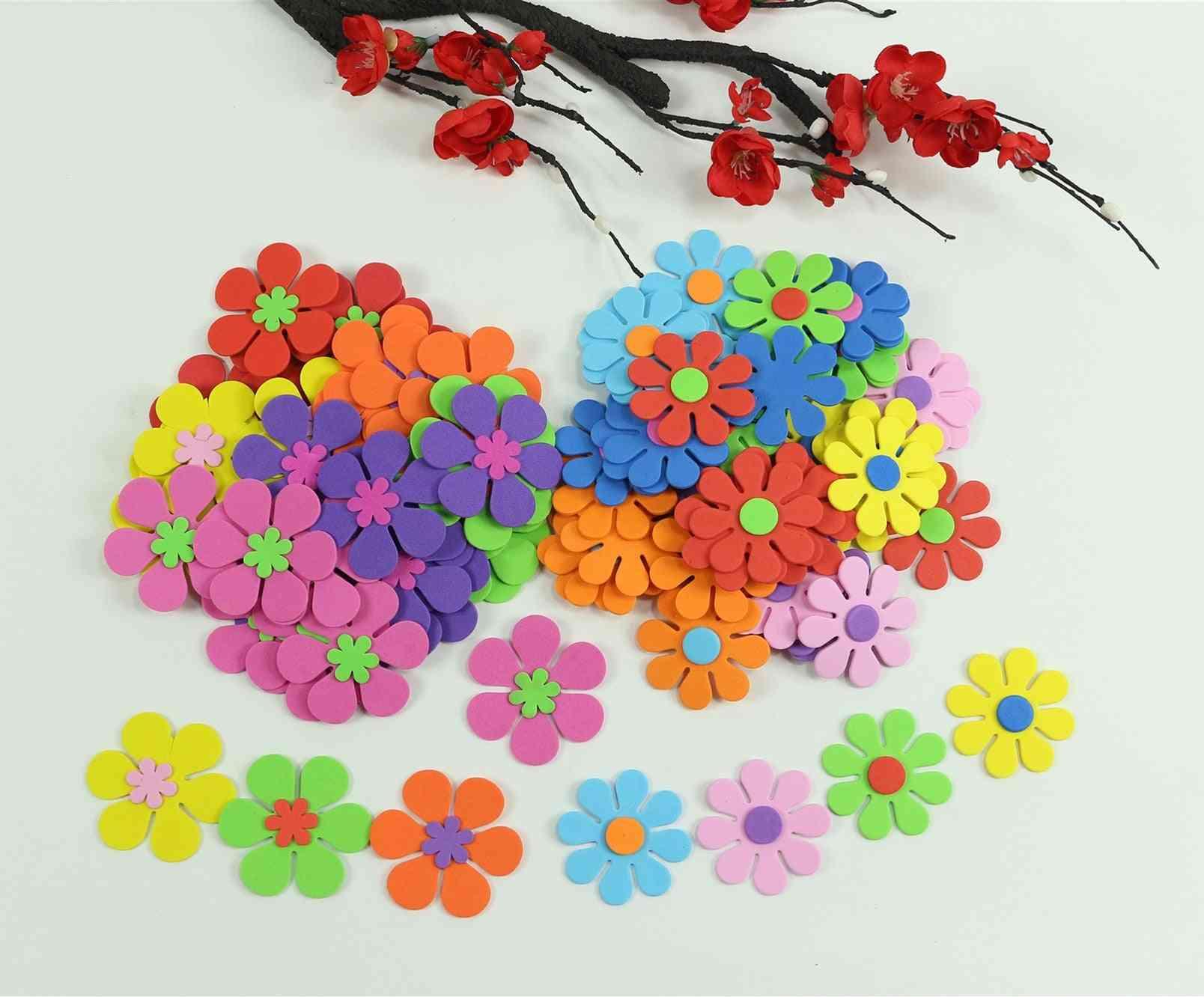 Mix-flowers Foam-stickers Kids-toy, Scrapbooking Kit, Early-educational Diy Toys