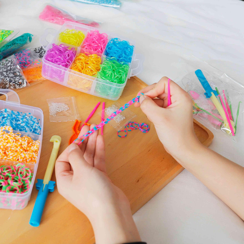 Diy Rubber Loom-bands Set Diy Bracelet-silicone-rubber Bands Elastic-rainbow-weave