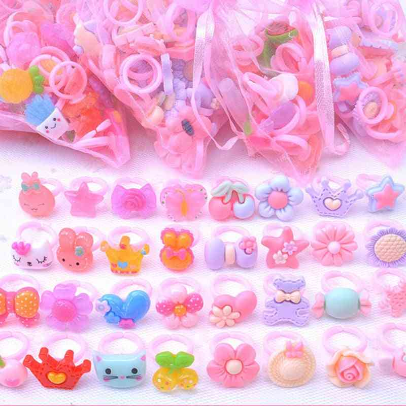 Resin Cartoon Rings For, Dress-up Party Accessories Toy