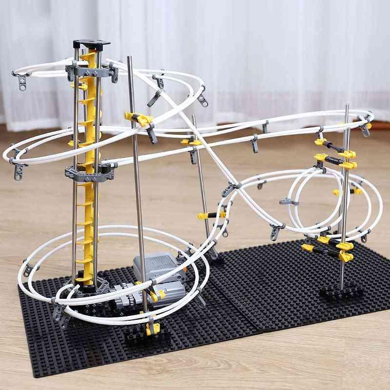 Space Rail Roller Coaster, Marble Runs Building Blocks, Circuit Toy