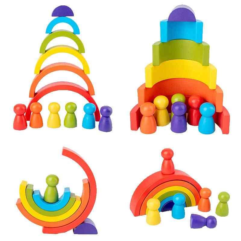 Montessori Creative Rainbow Building Blocks Toy