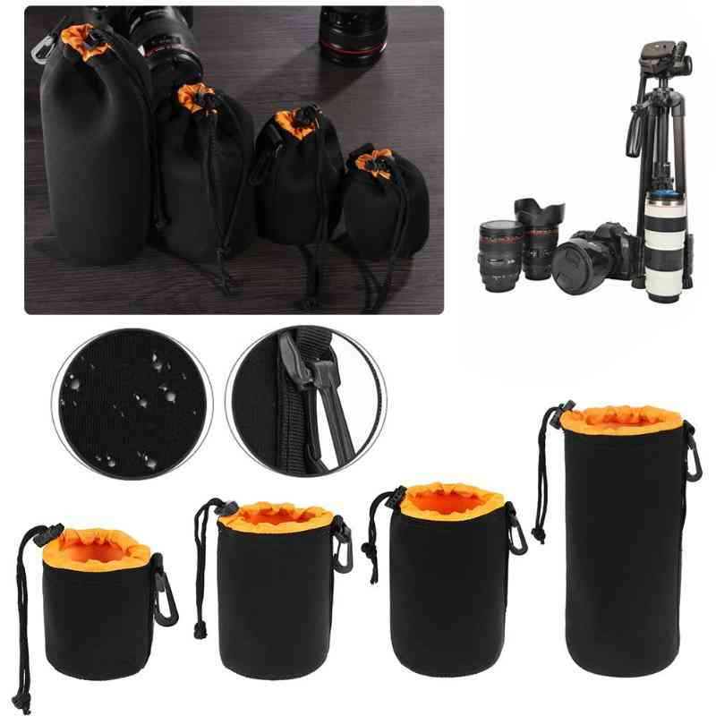 Neoprene Waterproof, Soft Video Camera Lens Pouch Bag Case For Camera Lens Protector