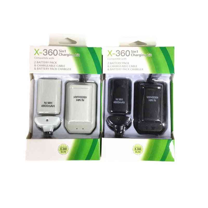 Portable Double Rechargeable Battery And Usb Charger Cable Pack For Xbox 360 Wireless Controller