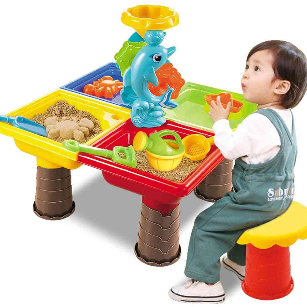 Summer Desk Digging Pit And Bucket Outdoor Seaside Beach For Toy Set