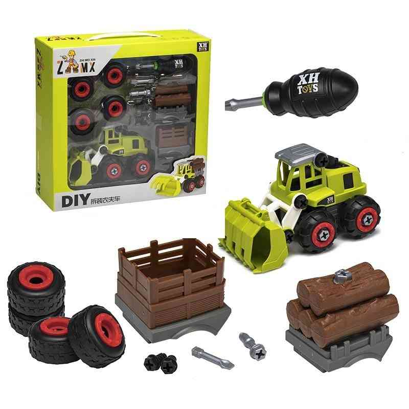 Nut Disassembly Loading Unloading Engineering Truck, Creative Education Toy