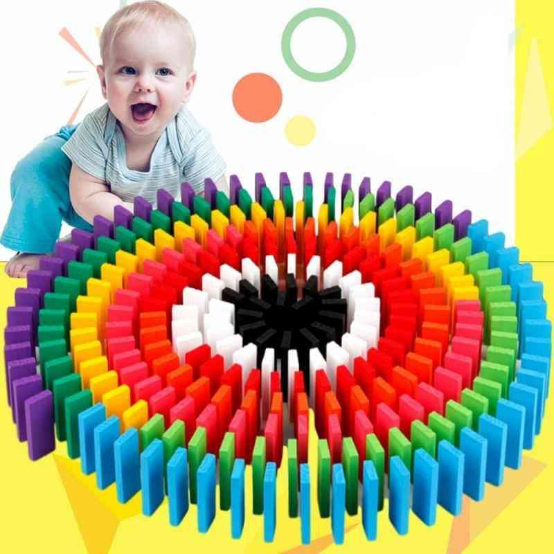 Children's Large Domino - Early Education Wooden Building Blocks