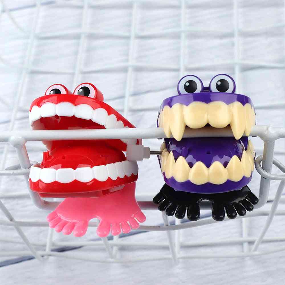 Creative Chattering Jumping Teeth Clockwork Toy For  -christmas New Arrival