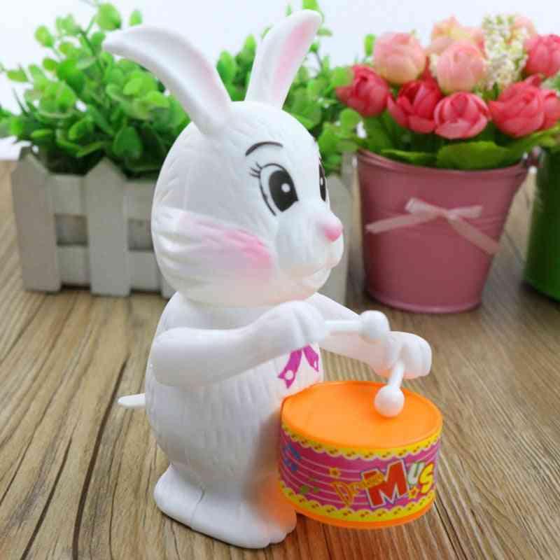 Cartoon Rabbit Drumming Clockwork Wind-up For