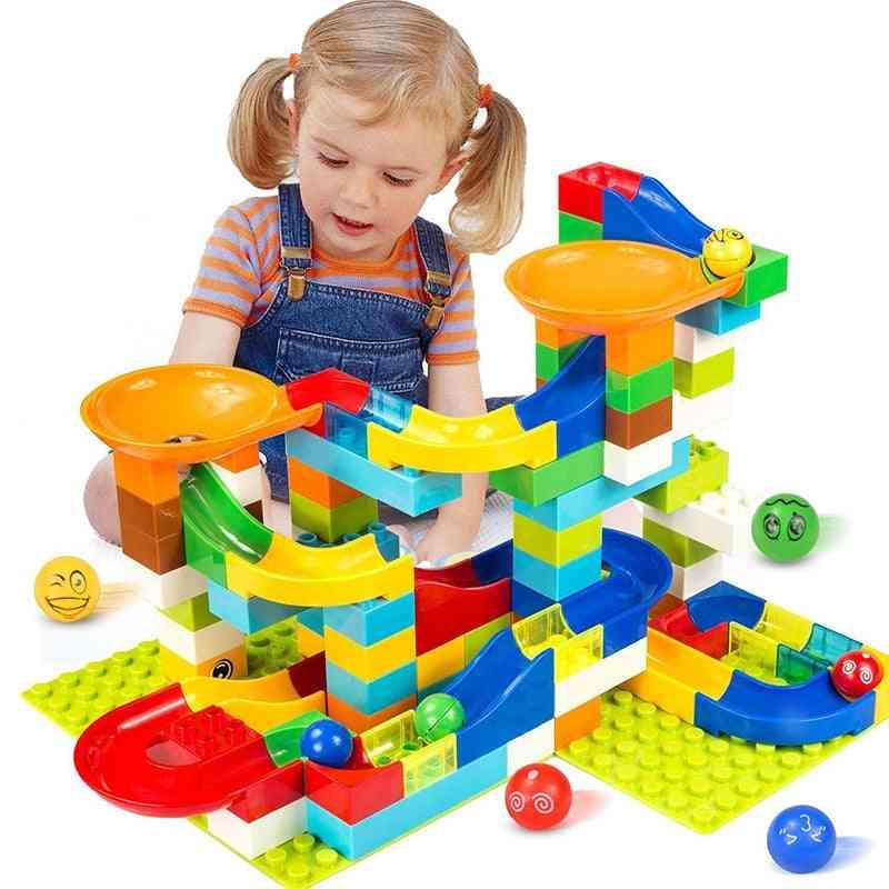 Plastic Funnel Slide Big Size Bricks, Marble Race Run Maze Ball - Track Building Blocks