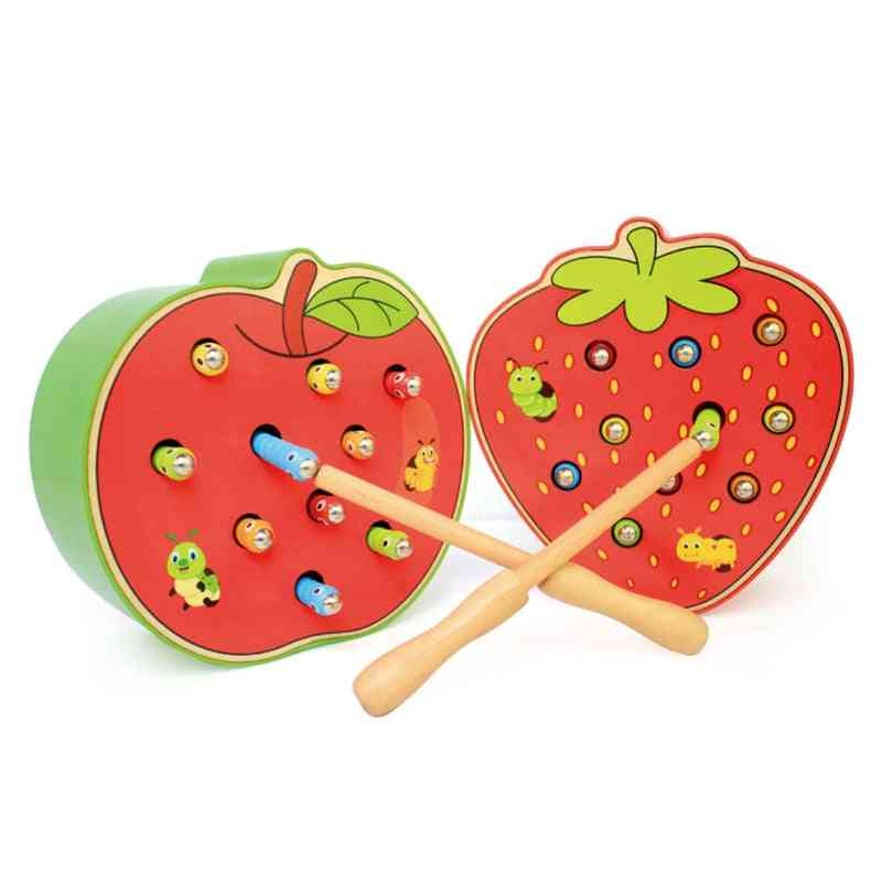 Strawberry 3d Puzzle Baby Wooden Early Educational Magnetic Math