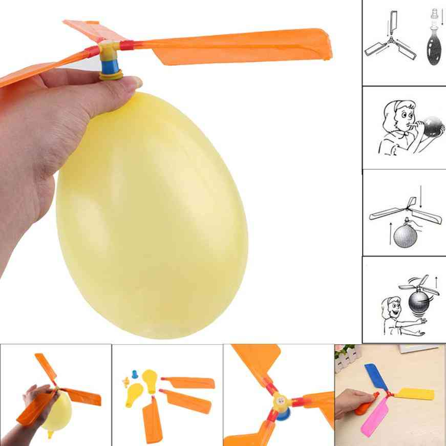 Balloon Helicopter Flying Toy For Child Birthday, Xmas Party