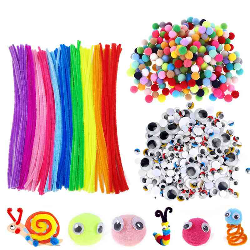 Googly Wiggle Eyes, Rainbow Colors Shilly-stick Educational Art Craft