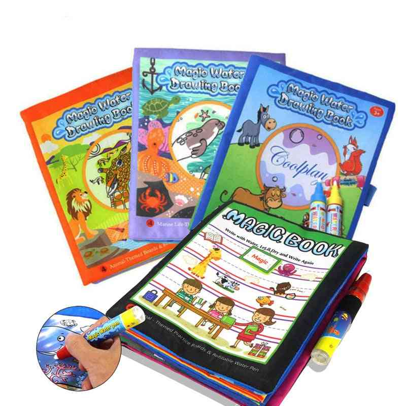4 Styles Magic Water Drawing Book- Learning For Kids