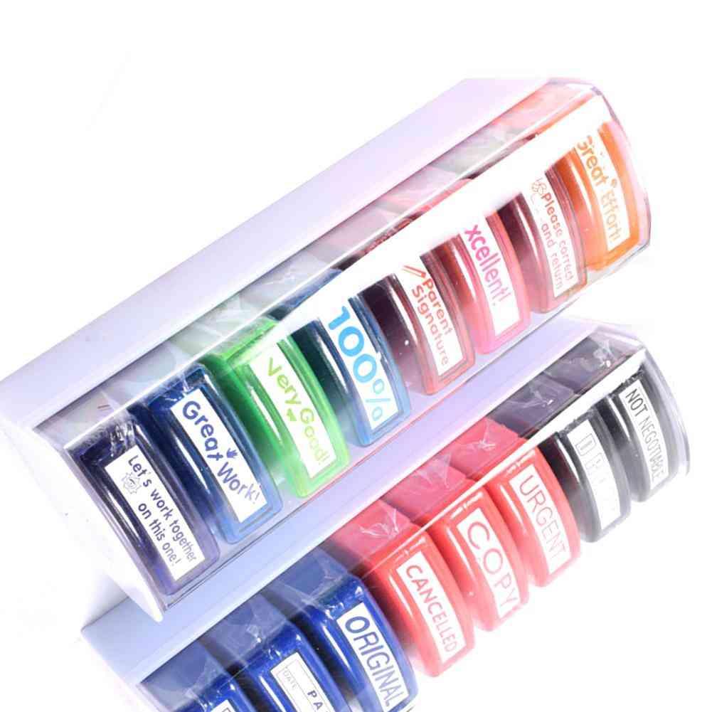 Colorful Teacher Seal Set School Grading Teacher Stamp For Hn-pp103 Toy