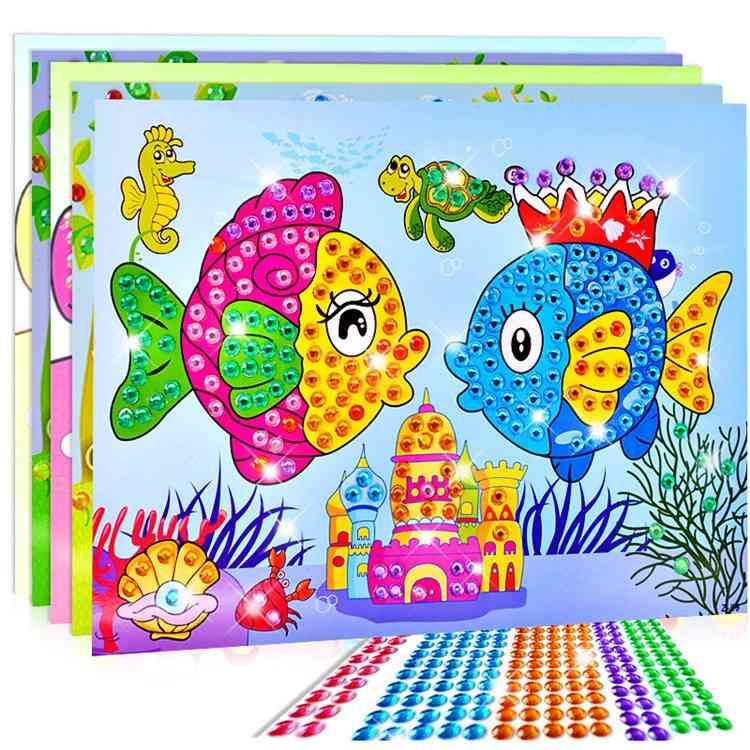 Crystal-sticker Craft Diy For-kids, Educational Mosaic-sticker-crafts