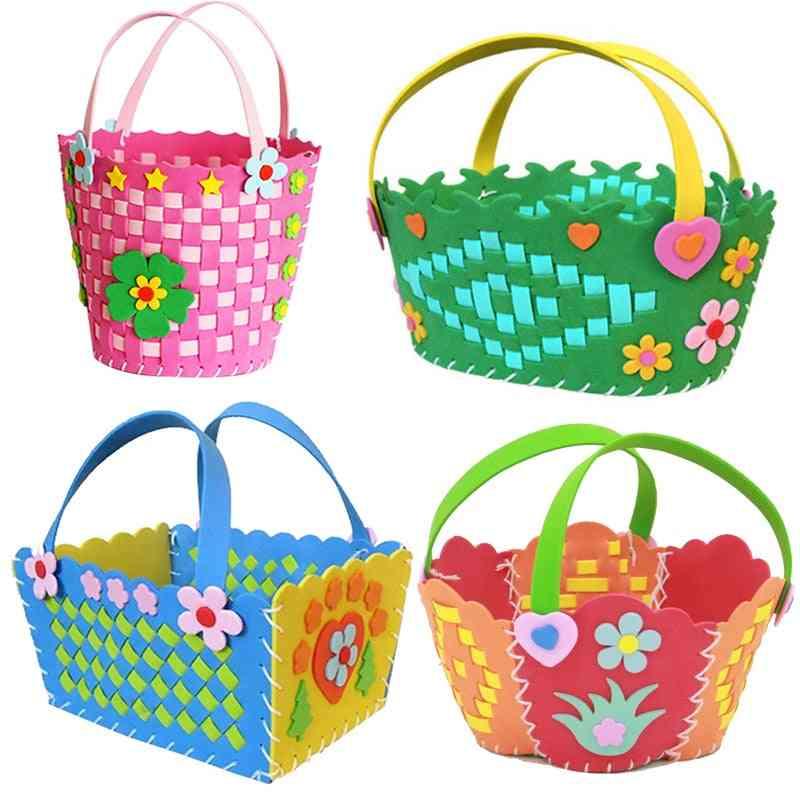 Handmade Woven Paste Basket Childen Toy Handicrafts