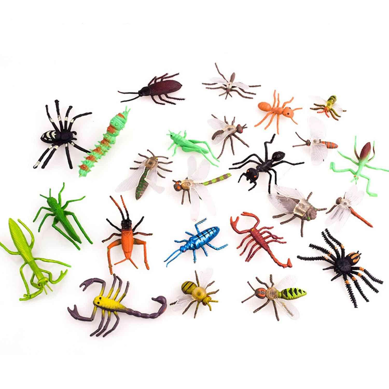 12pcs Mini Simulation Pvc Insect Animals Models Set Animals Educational Toy For