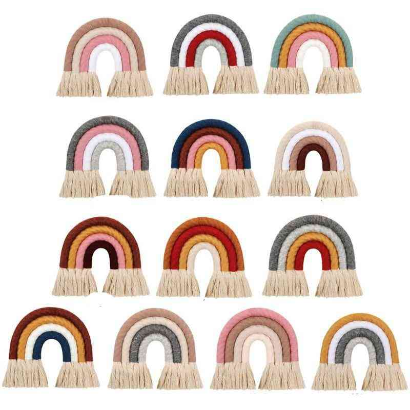 Rainbow Shape, Cotton Hand-woven, Hanging Ornament For's Room Decoration