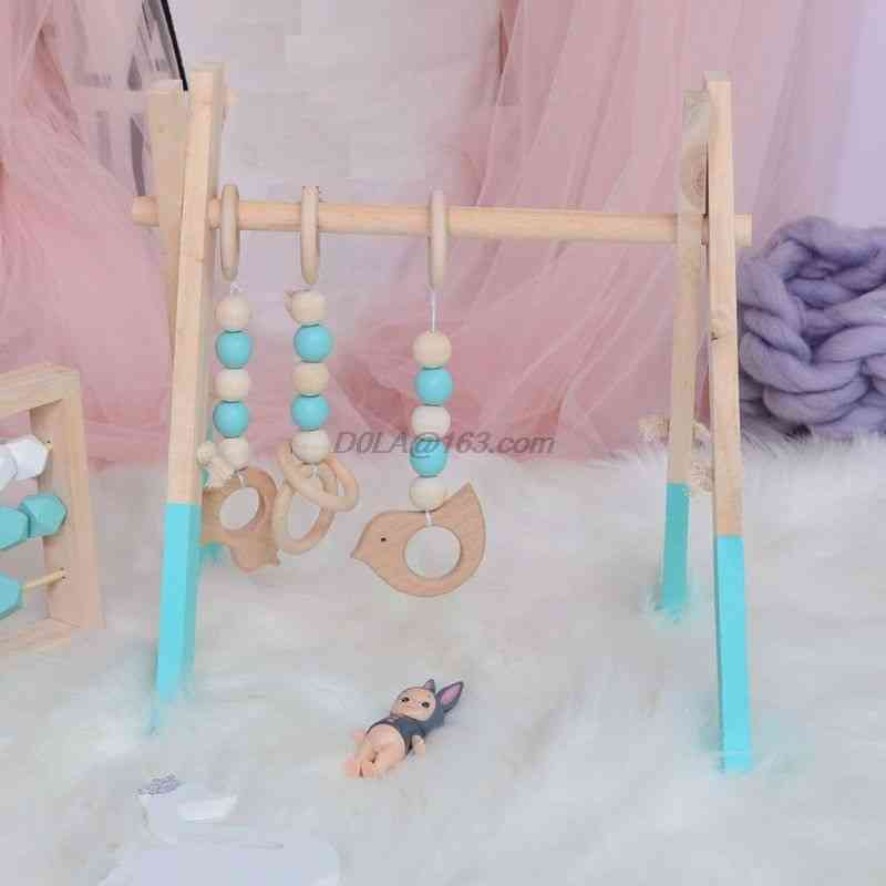 Baby Wooden Foldable Activity Gym Frame - Detachable Living Kids Bedroom Decoration