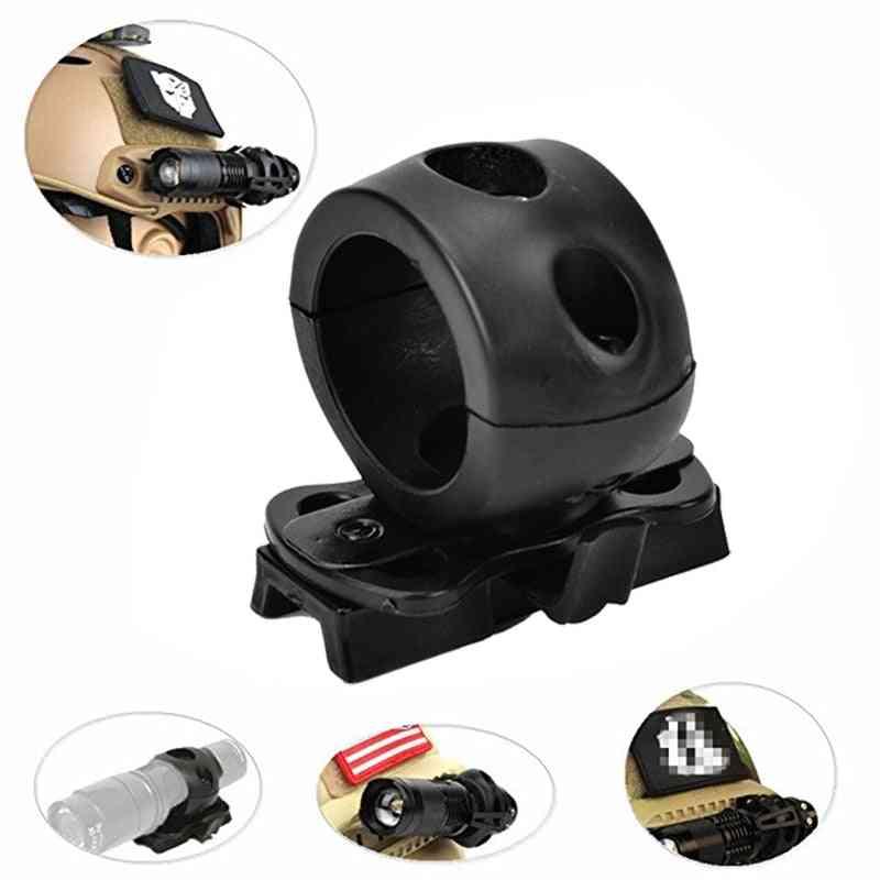 Quick Release Flashlight Clamp Holder Mount For Fast Helmet