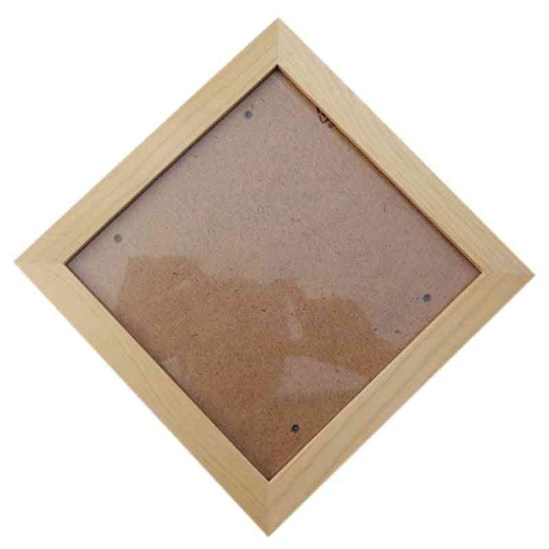 Square Thick Pine Wood Photo Frame, Wall Picture Frame (wood)