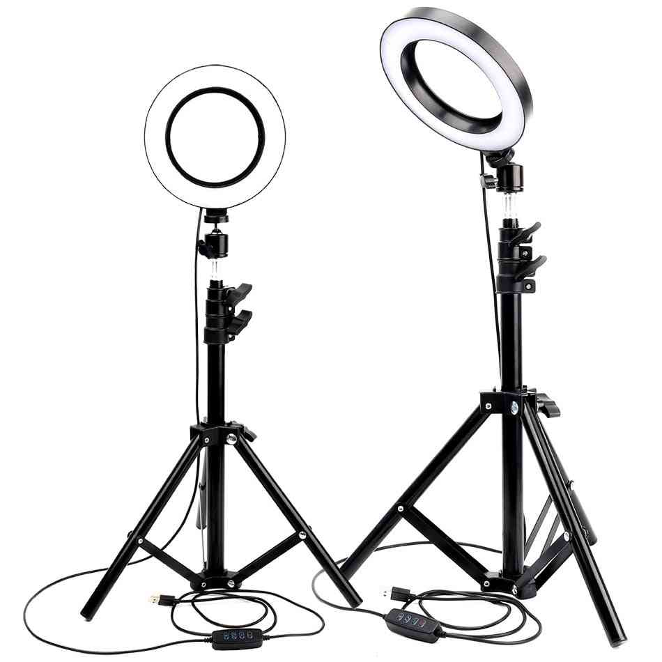 Dimmable Light For Youtube, Makeup Selfie -with Tripod Phone Holder