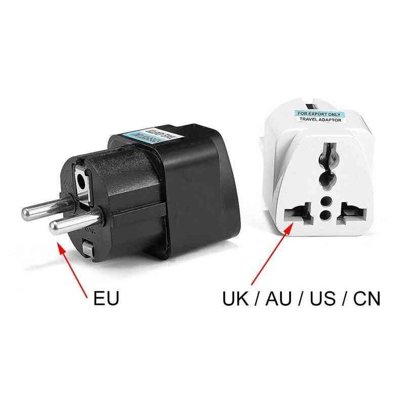 Universal Eu Plug Adapter International Au Uk Us To Eu Euro Kr Travel Adapter Electrical Plug C