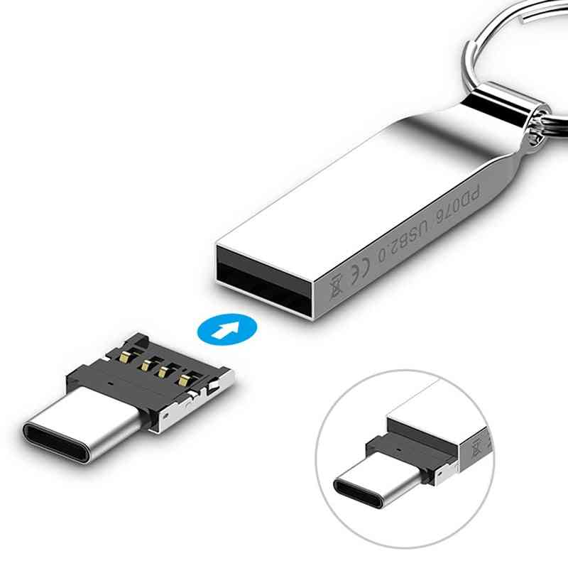 Usb 3.1 Type C Male To Female Otg Adapter