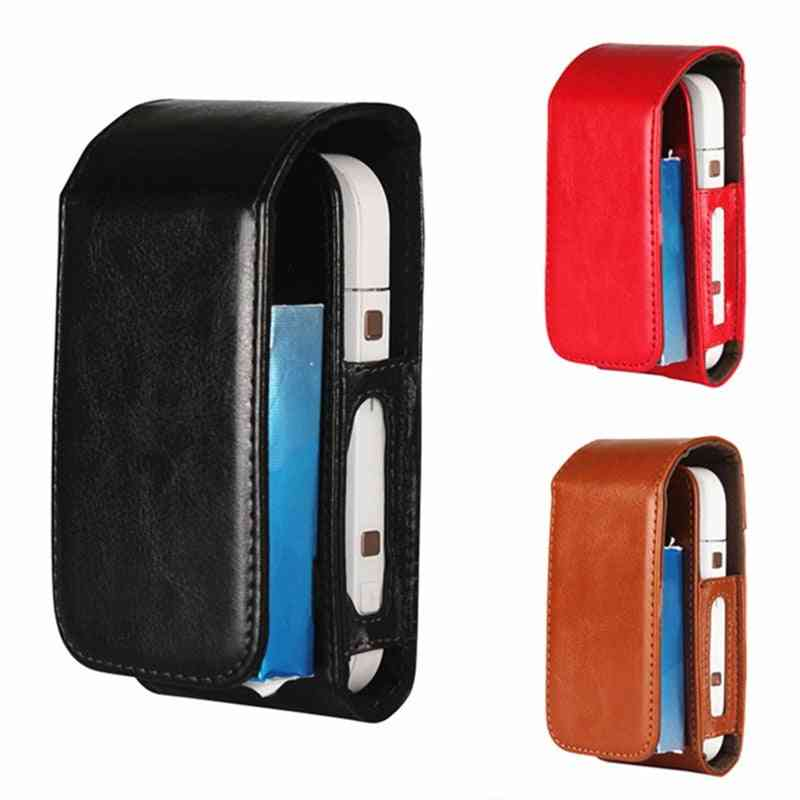Portable Pu Leather Bag For Iqos With Wrist Carry Strap