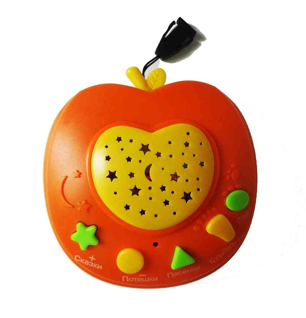 Apple Shape, Battery Operated-story Teller Machine With Led Light Projection