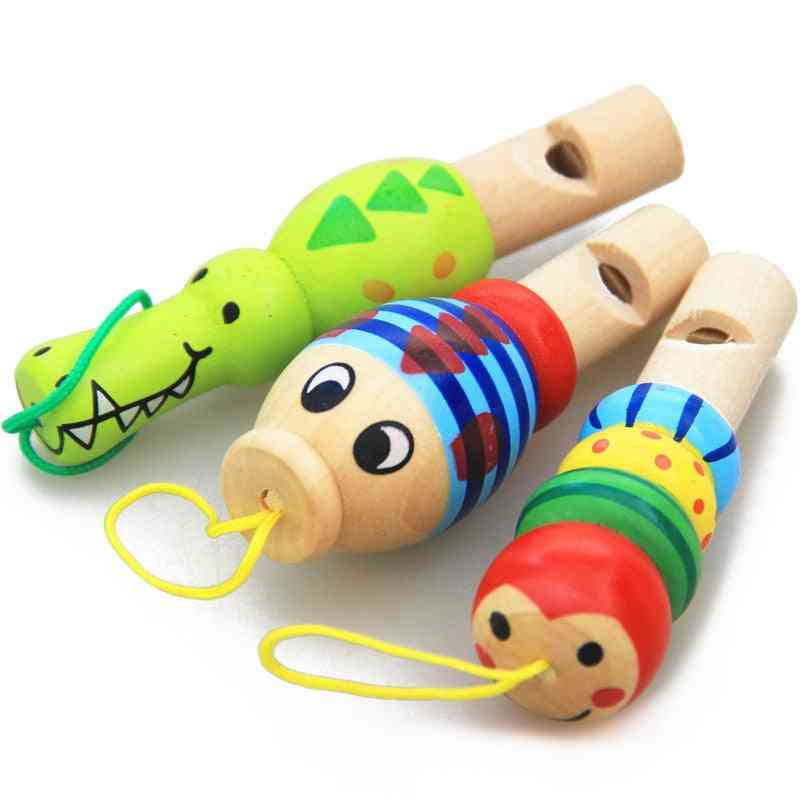 Cartoon Animal Whistle Educational Music Instrument Toy For Baby