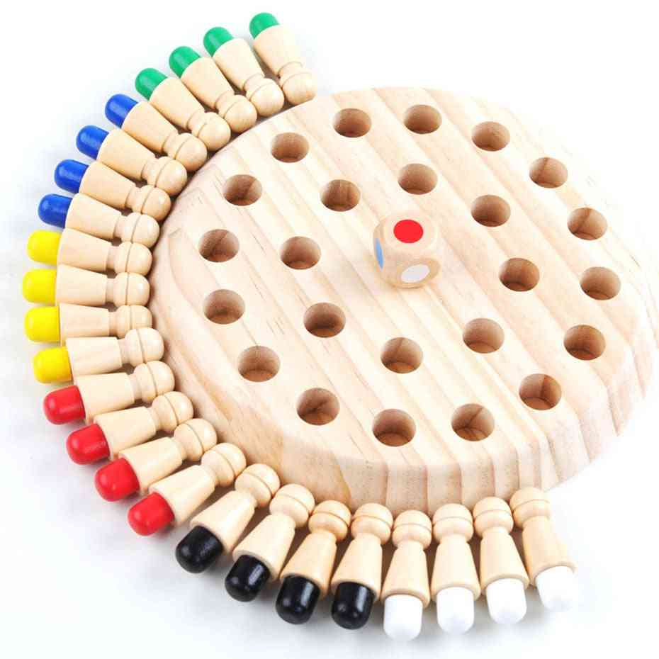 Wooden Memory Match Stick And Chess Game-educational Color Cognitive Ability Toy